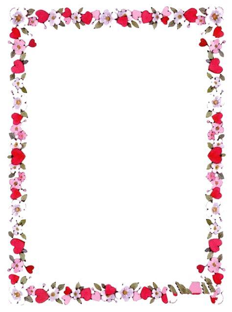image cadre fleurs coeurs pour la creation numerique au format gif le de la