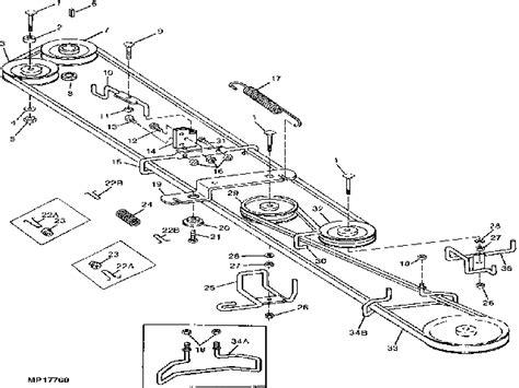 deere stx38 drive belt diagram mower belts
