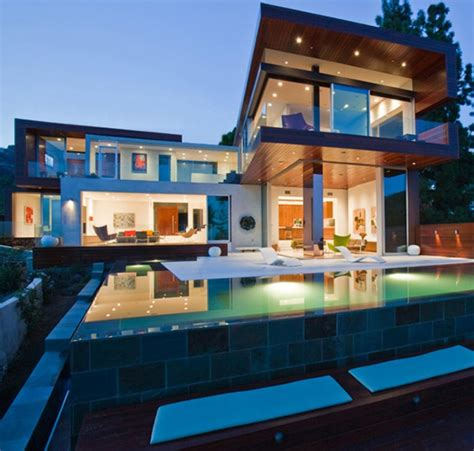 open plan house with swimming pool olpos design