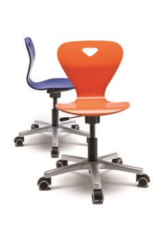 chion desk scooter chair by moll scooter chair has an adjustable height back rest seat