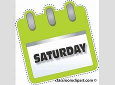 Calendar Clipart notebook_saturday_green Classroom Clipart