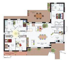 1000 ideas about maison plein pied on plan maison plan maison 4 chambres and plein