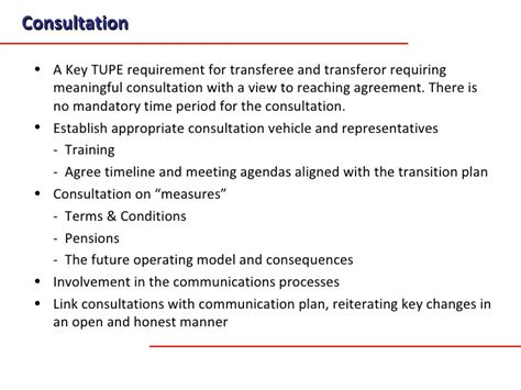 tupe measures letter template a transition methodology for business transfers and