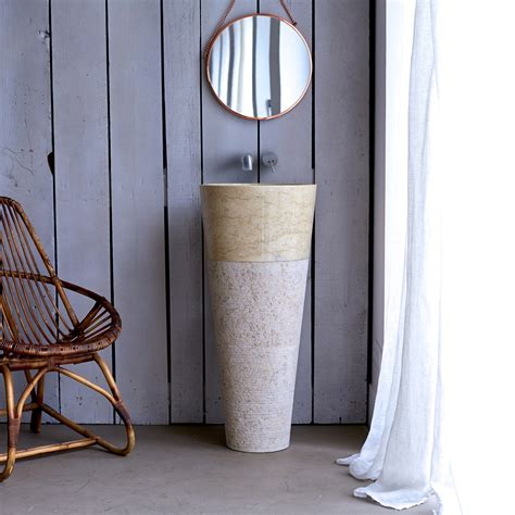 vasque sur pied en marbre koni prix tikamoon