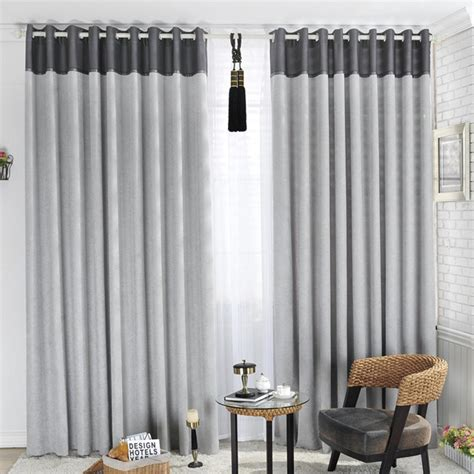 vintage living room decoration with tab top gray blackout curtains and white iron curtain rod