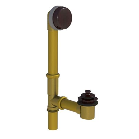 bathtub drain stopper removal lift and turn watco 598 series 24 in tubular brass bath waste with lift
