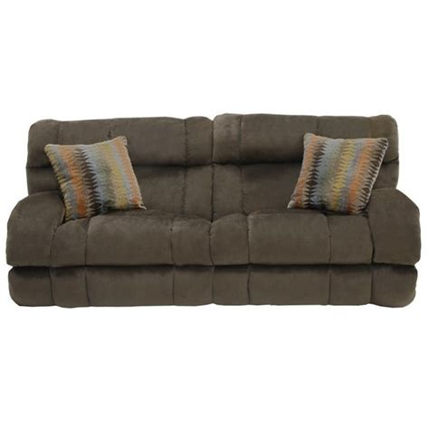 catnapper siesta power lay flat reclining fabric sofa in chocolate 61761268109275143