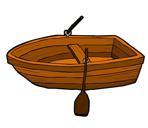Cartoon Wood Boat by Row Boat Clipart Cartoon Pencil And In Color Row Boat