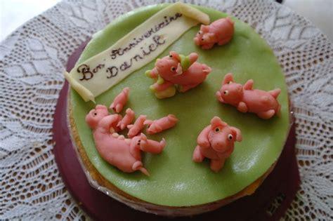 gateau anniversaire petits cochons p 226 te d amandes