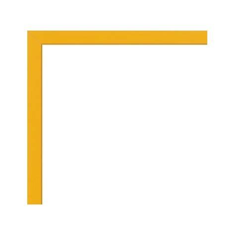 cadre pour poster sur mesure en aluminium jaune avec