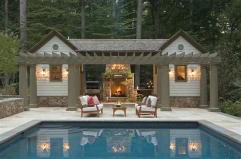 Cool Pool House With A Bar That You Will Adore It