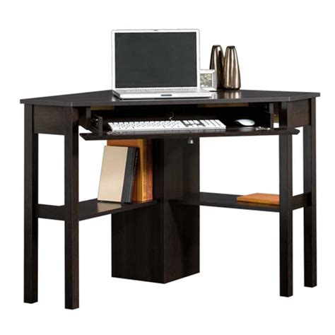 sauder beginnings collection 46 in corner computer desk in cinnamon cherry 412314 the home depot