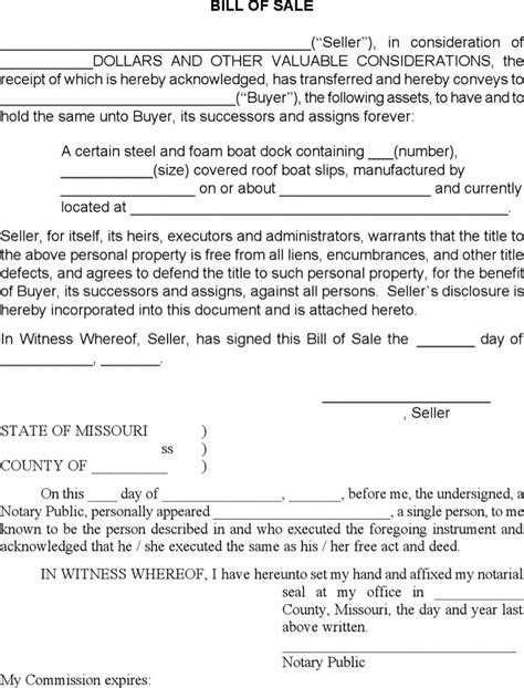 Boat Bill Of Sale Rya by Generic Bill Of Sale Templates Download Free Premium