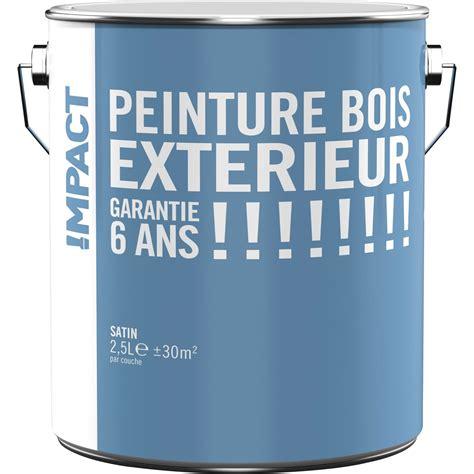 peinture bois ext 233 rieur impact blanc 2 5 l leroy merlin