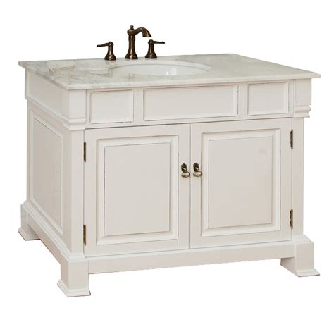 shop bellaterra home white rub edge undermount single sink bathroom vanity with marble