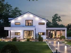 Stadtvilla Mit Anbau : modernes fertighaus mit b ro anbau haus concept m 166 bien zenker einfamilienhaus bauen mit ~ Markanthonyermac.com Haus und Dekorationen