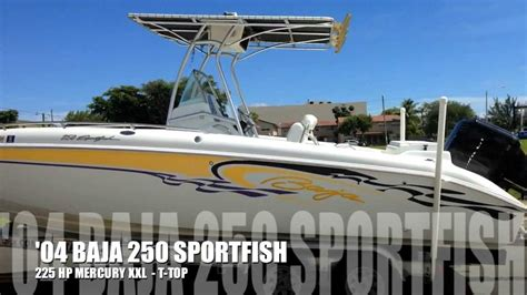 Baja Boats You Tube by 2004 Baja 250 Sportfish For Sale By Boats International