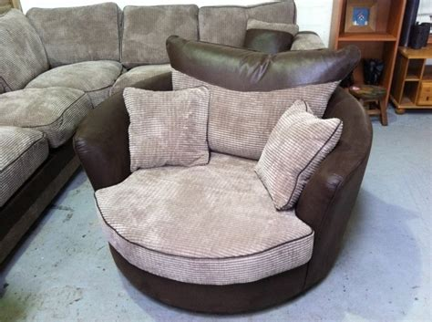 large cheap snuggle grey swivel cuddle chair image