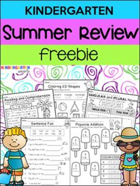 Kindergarten Summer Review Packet  Kindergarten, January 2016 And Early Finishers