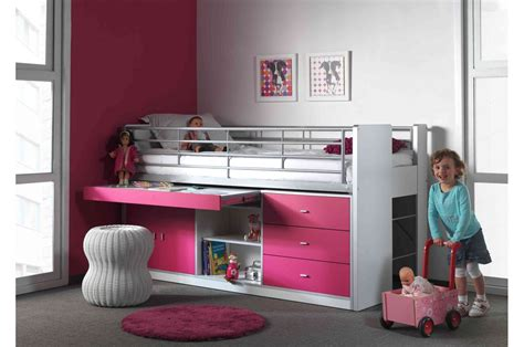 lit combin 233 5 coloris au choix 90x200 cm bureau rangement cbc meubles