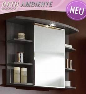 Badezimmer Spiegel Schrank : neu spiegelschrank esche karbon badezimmer schrank spiegel badm bel badspiegel ebay ~ Markanthonyermac.com Haus und Dekorationen