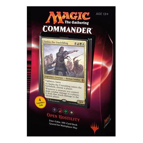 mtg magic the gathering commander 2016 100 card deck open