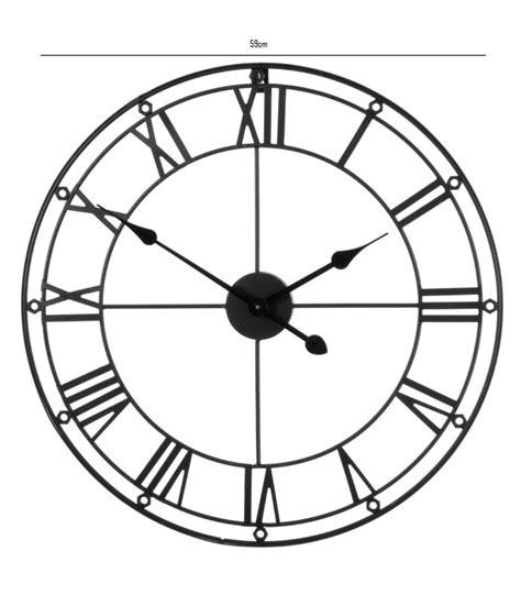 grande horloge murale ronde en m 233 tal noir chiffres romains wadiga