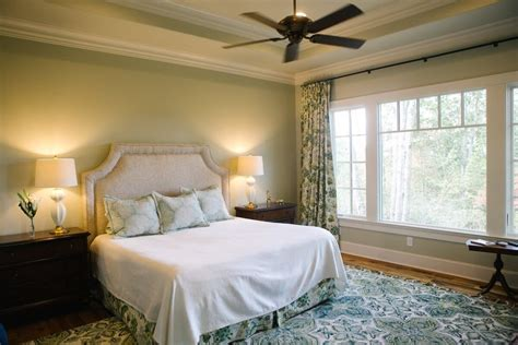 Love The Windows In This Blue And Green Master Bedroom
