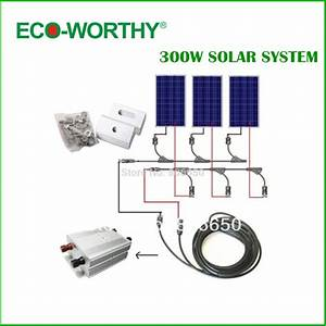 COMPLETE KIT 300W Solar Panel cells off grid system,home ...