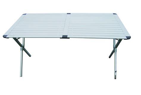 table de cing pliante en aluminium de 110cm