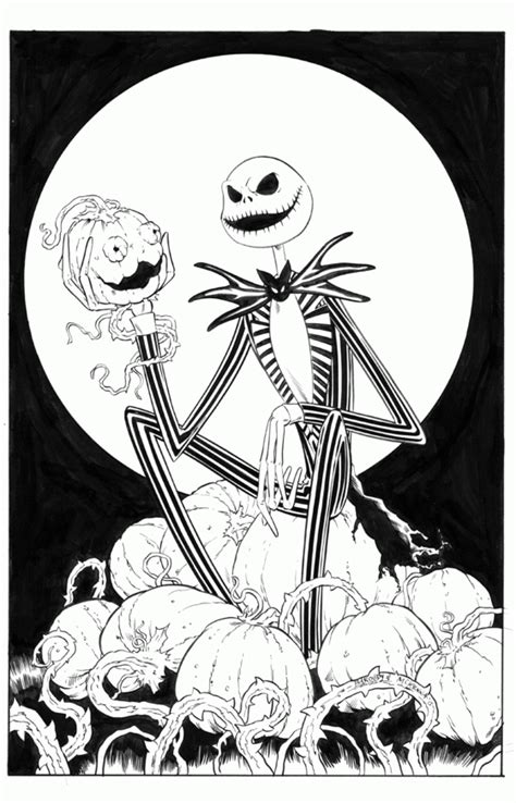 Jack And Sally Pumpkin Stencil Free by Jack Skellington Coloring Page Coloring Home