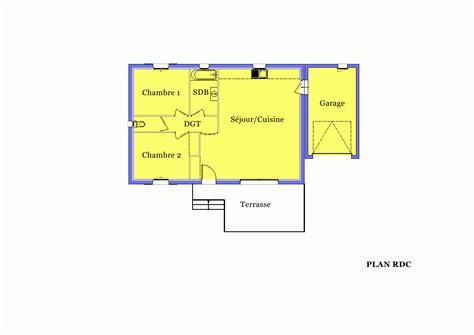 villa sur plan mod 232 le amaryllis 70 m2 224 construire dans les bouches du rhone 13 azur logement