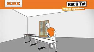 Vinyltapete Tapezieren Tipps : w nde tapezieren tapezieren anleitung rat tat youtube ~ Markanthonyermac.com Haus und Dekorationen
