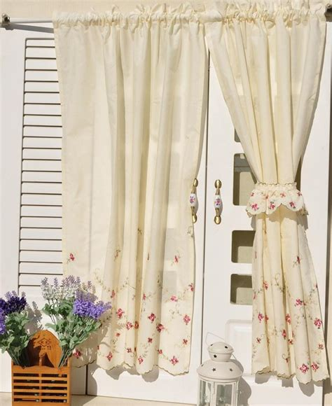 country floral embroidered cafe kitchen curtain 006 ebay