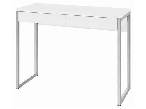 bureau 2 tiroirs leny coloris blanc vente de bureau conforama
