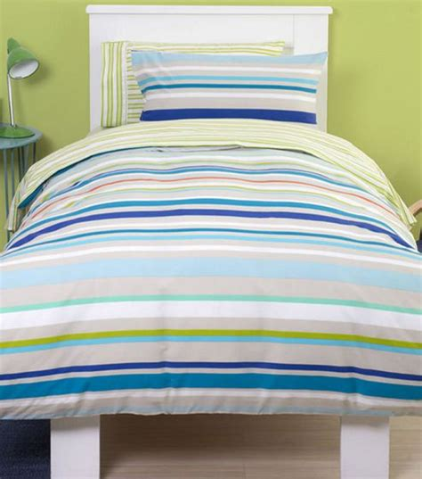 Buy Fun Stripe, Kids Single Bedding  Blue From Our Duvet