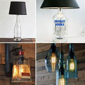 Nachttischlampe Selber Bauen : diy alte flaschen zu neuem leben erwecken urban drinks blog ~ Markanthonyermac.com Haus und Dekorationen