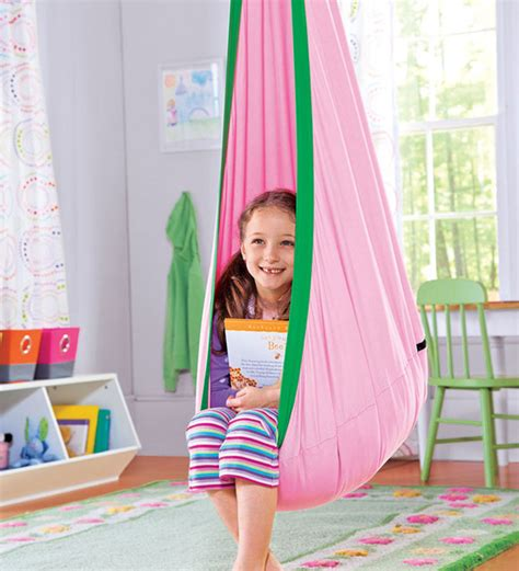 Hugglepod, Children's Canvas Hanging Egg Chair   Contemporary   Kids Chairs   by HearthSong