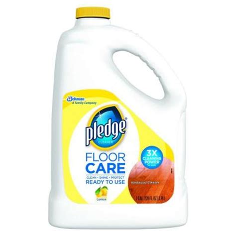 pledge 128 oz wood floor cleaner 605896 the home depot