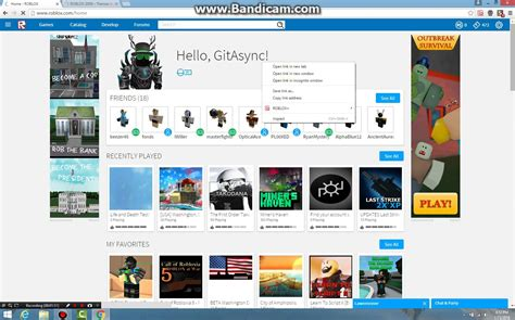Roblox Home : How To Get The Old Roblox Website Back?!?!