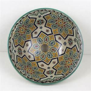 Bemalte Keramik Waschbecken : orientalisches handbemaltes keramik waschbecken fes16 bei ihrem orient shop casa moro ~ Markanthonyermac.com Haus und Dekorationen