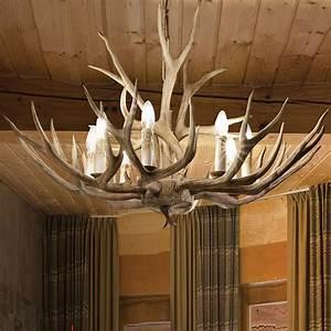 Deckenlampe Aus Holz : chalet holz geweih l ster 67 cm 6 flammig 44443 ~ Markanthonyermac.com Haus und Dekorationen
