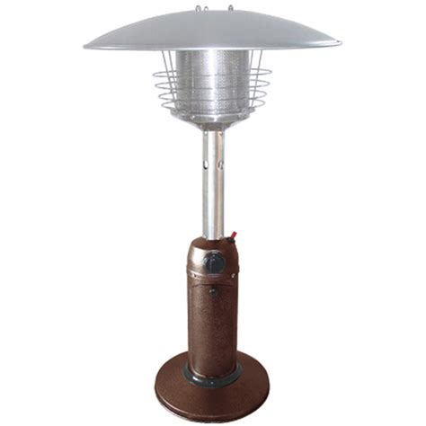shop garden treasures 11 000 btu hammered bronze steel liquid propane patio heater at lowes