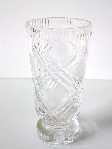 Vases  Vintage Bohemian Crystal Vase Was Listed For R495
