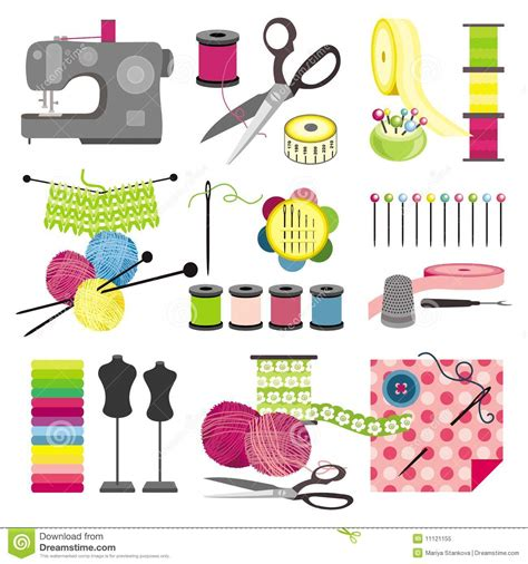 Craft Icons  Sewing Royalty Free Stock Photo Image