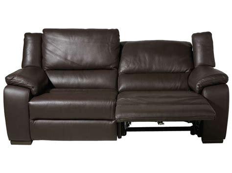 canap 233 fixe relaxation 233 lectrique 3 places en cuir saturday coloris expresso vente de canap 233