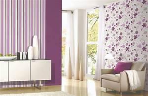 Lila Im Schlafzimmer : lila tapete schlafzimmer ~ Markanthonyermac.com Haus und Dekorationen