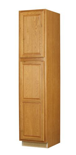 Menards Unfinished Pantry Cabinet by Value Choice 18 Quot Huron Oak Standard 2 Door Utility