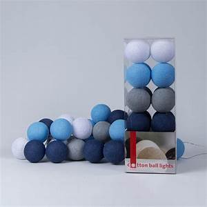 Lichterkette Cotton Balls : sailor blue lichterkette cotton ball lights ~ Markanthonyermac.com Haus und Dekorationen