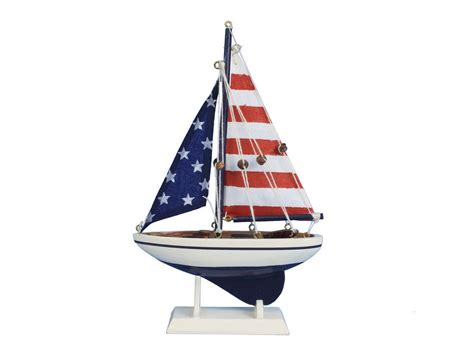 Toy Boat Decoration by Buy Wooden Usa Flag Sailer Model Sailboat Decoration 9